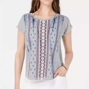 Style & Co Petite Printed Top